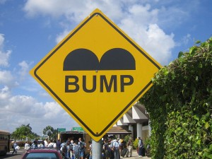 Belize Speed Bump Sign