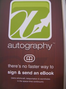 Autography ebook signing
